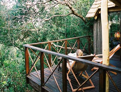 Relax on your private deck to the sound of birdsong...
