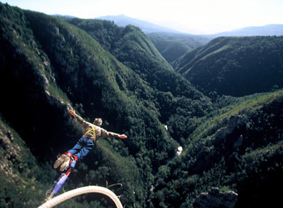 Take a deep breath ~ bungee jump from the Storms River Bridge
