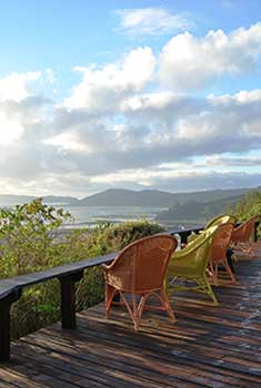 Looking out across the Knysna Lagoon towards the Heads