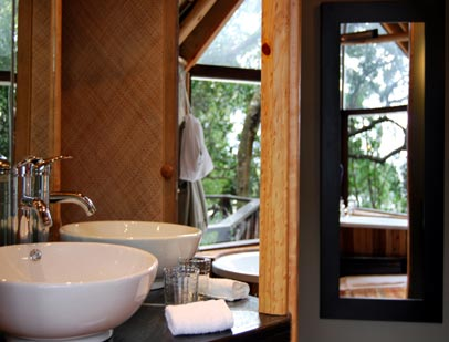 Double basins in the Classic Tree Suite bathroom
